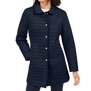 Kate Spade Quilted Snap Button Down xs